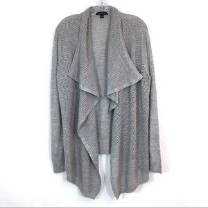 Ann Taylor Merino Wool Blend Open Front Cardigan